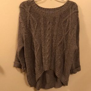 Gray/ Brown cashmere 360 Sweater